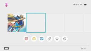 任天堂スイッチライト ホーム画面