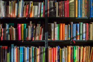 本棚に入っている大量の本